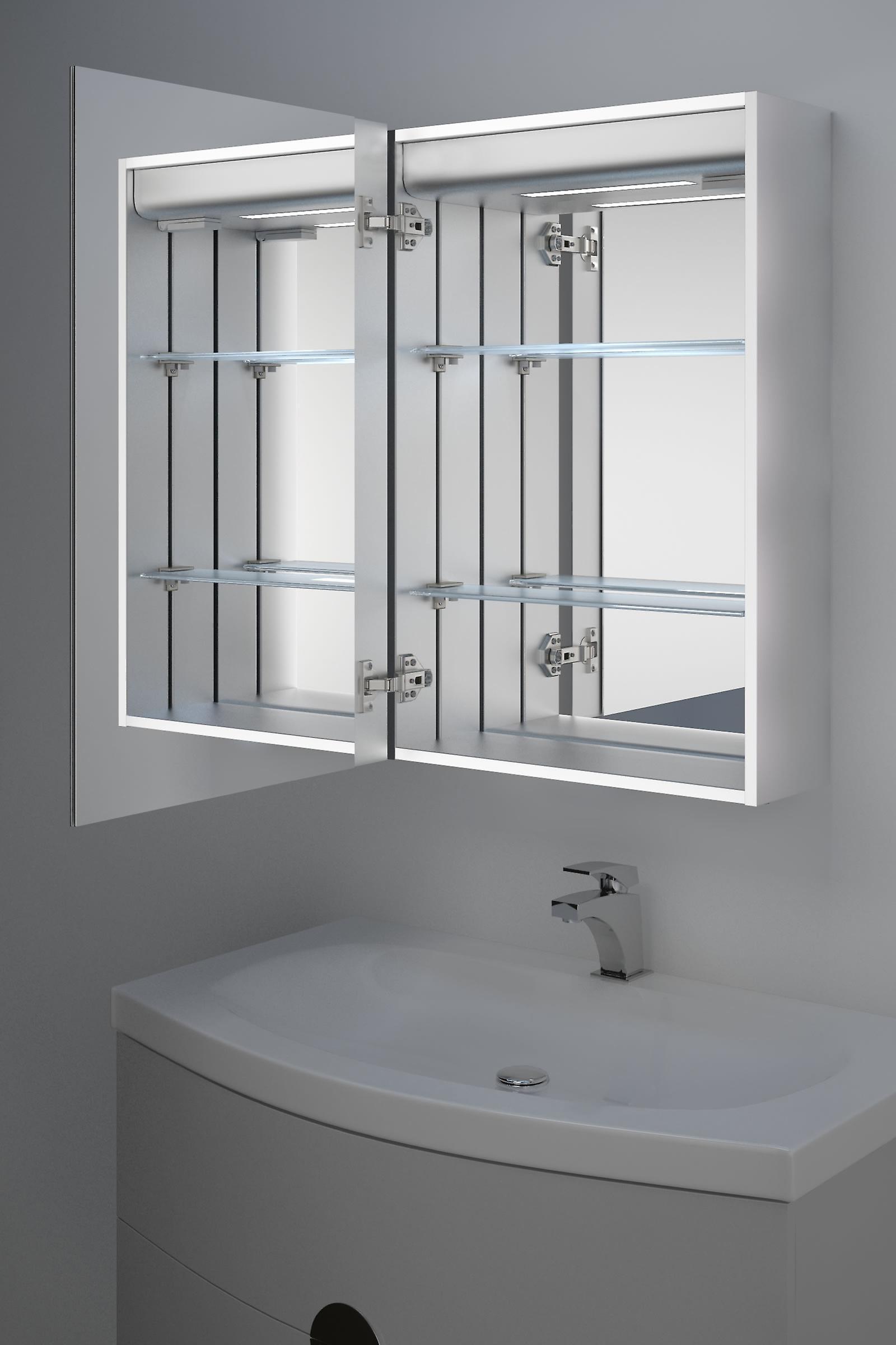 Balta LED Audio Bathroom Cabinet with Demister Pad, Shaver Socket