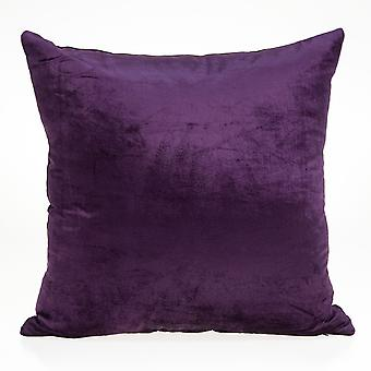 """22"""" x 7"""" x 22"""" Transitional Purple Solid Pillow Cover With Poly Insert"""