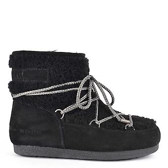 Moon Boot Far Side Black Low Shearling Boot