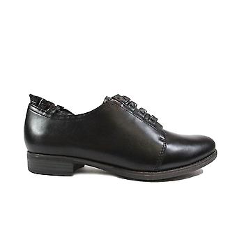 Tamaris 23220 Black Leather Womens Lace Up Shoes