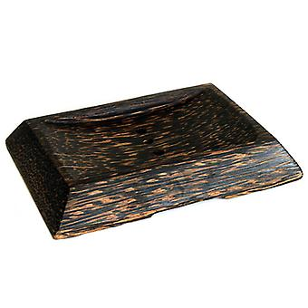 Coco Wood Soap Dish - Simple Square With Drain
