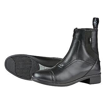 Saxon Syntovia Adults Horse Riding Zip Paddock Boots - Black
