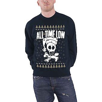 All Time Low Christmas Jumper Sweatshirt Xmas Skull logo new mens Official