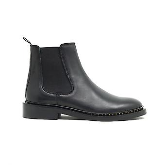 Walk london womens darcy star chelsea boot in black leather