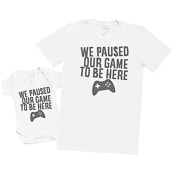 We Paused Our Game To Be Here - Mens T Shirt & Baby Bodysuit