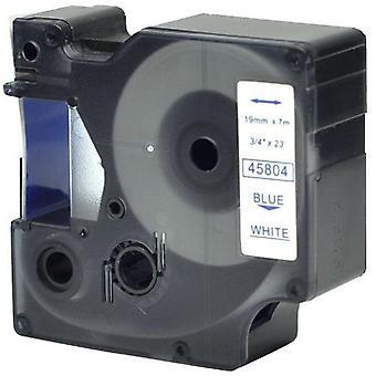 Kaseta Prestige™ kompatybilna d1 45804 niebieska na białych taśmach (19mm x 7m) dla producentów etykiet elektronicznych
