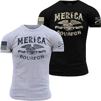 Grunt stil Merica Bourbon varemerke T-skjorte