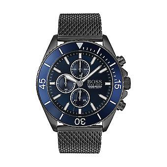 Hugo Boss ATHLEISURE 1513702 - Uhr Chronograph Zifferblatt blau Armband Netz Mailänder Mann