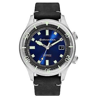 Watch Spinnaker SP-5057-03 - Bradner Bracelet leather black case steel blue man