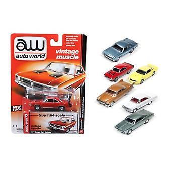 Autoworld Muscle Cars Release 5A Premium licenza Set di 6 Auto 1/64 Diecast Model Cars di Autoworld
