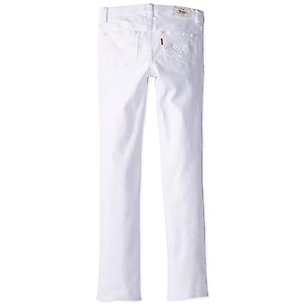 Levi's Girls' 711 Skinny Fit Jeans , White, 12