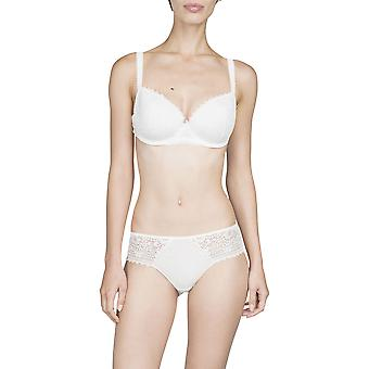 Maison LeJaby Elixir G51531-801 Women's Hanae Lily White With Lace Underwired Padded Plunge Bra
