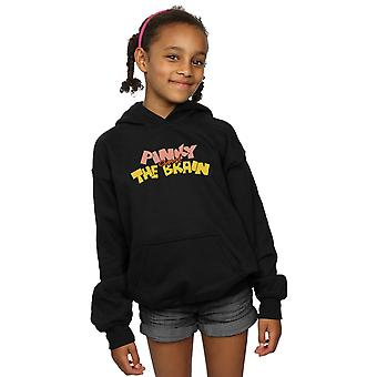 Animaniacs Girls Pinky And The Brain Logo Hoodie