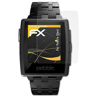 atFoliX Glass Protector compatible with Pebble Steel Glass Protective Film 9H Hybrid-Glass