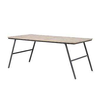 Light & Living Dining Table 180x90x76cm Macas Weathered Wood-Antique Grey