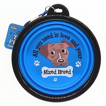 Wags & Whiskers Travel Pet Bowl - Mixed Breed