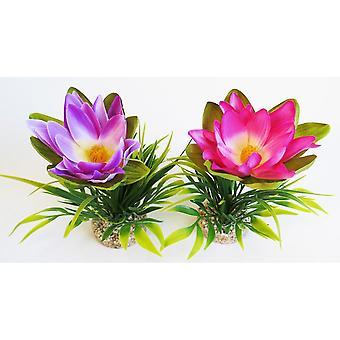 Sydeco Lotusblume Sydeco (Fische , Aquariumsdeko , Künstliche Pflanzen)