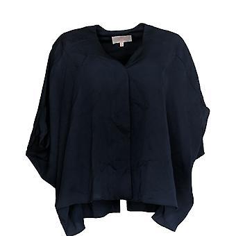 Laurie Felt Women's Top V Neck Blouse W/ High Low Hem Blue A309541