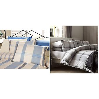 Belledorm Boston Check Duvet Cover Set