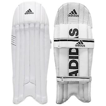 adidas XT 2.0 Junior Kids Cricket Wicket Keeper Pads Weiß/Schwarz - Junior