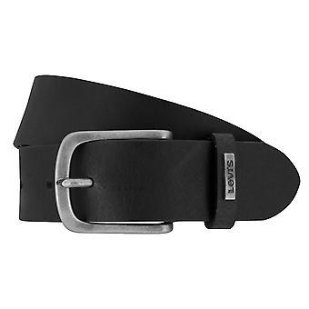 Cinturón de Levi Hombres Cinturón de Cuero Jeans Cinturón Negro 8538