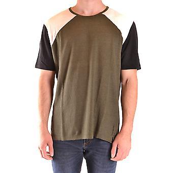 Paolo Pecora Ezbc059059 Men's Green Cotton T-shirt