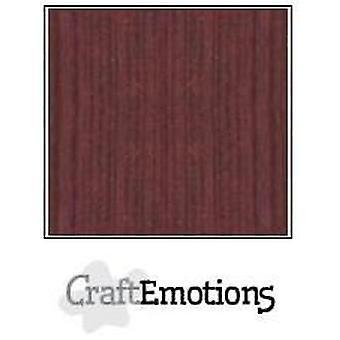 CraftEmotions linnen karton 10 Sh mahoniebruin 27x13,5cm 250gr / LHC-78