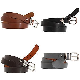 Forest Belts Mens 0.75 Inch Plain Skinny Leather Belt