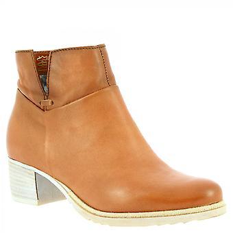 ليوناردو أحذية النساء & أبوس؛s اليدوية عارضة الكعب منخفضة الكعب أحذية الكاحل تان الجلد الجانب الرمز البريدي