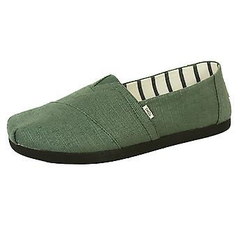 Toms men's bonsai green classic heritage canvas shoes