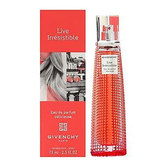 Live irrésistible delicieuse par givenchy pour les femmes 2,5 oz eau de parfum spray