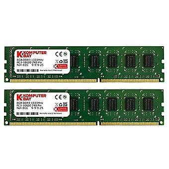 Komputerbay 16GB (2x 8GB) PC3-10600 10666 1333MHz DDR3 to 1333 DRAM DIMM to 240 pin RAM Desktop Double Memory Twin Channel Kit 9-9-9-25