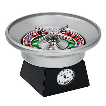 WM Widdop Miniature Novelty Collectors Monte Carlo Miniature Clock - Roulette Wheel 9656