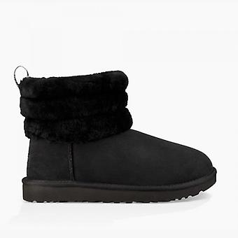 UGG Fluff Mini Quilted Ladies Sheepskin Boots Black