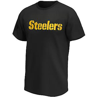 Pittsburgh Steelers NFL T-Shirt Iconic Wordmark Black