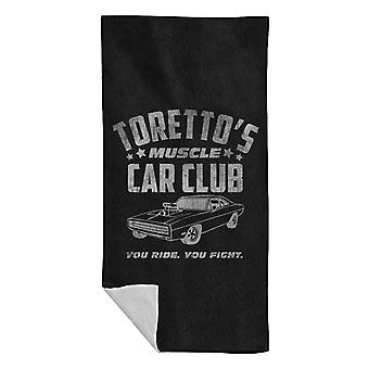 Fast And The Furious Torettos Muscle Car Club Beach Towel