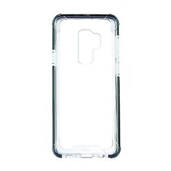 Mobiele cover Samsung Galaxy S9+ KSIX Flex Armor TPU Polycarbonaat Zwart Transparant
