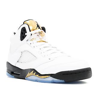 Air Jordan 5 Retro Bg (Gs) 'Olympic Gold' - 440888-133 - Shoes