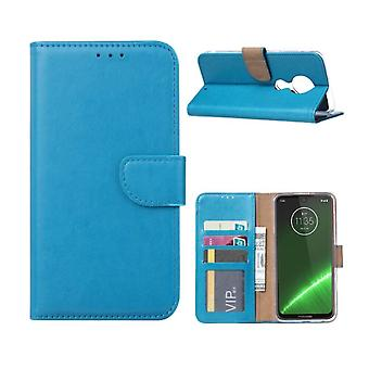 FONU Boekmodel Hoesje Motorola Moto G7 / G7 Plus - Turquoise