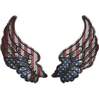 Pegatina Wings biker bandera bandera EE.UU. país EE.UU. Us Amercain