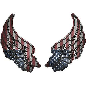 Sticker sticker Wings biker flag flag US country USA us Us Amercain