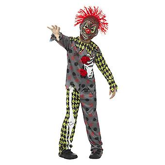 Gutter Twisted Clown Halloween fancy kjole drakt
