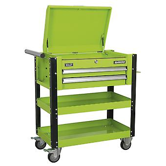 Sealey Ap760Mhv Heavy-Duty Mobile Tool & Parts Trolley 2 Drawers & Lockable Top
