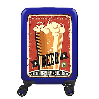 myTrolley Beer S, 4 rouleaux, 55 cm, 32 L, Bleu