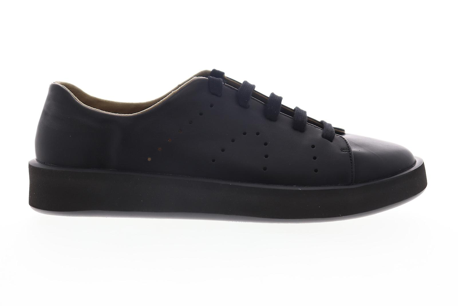 Camper Courb Hommess Black Leather Lace Up Low Top Sneakers Chaussures