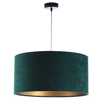 Lampe pendentif Jalua P Velours vert & or x 40 cm 10962