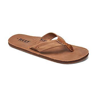 Reef Leather Men's Sandal with Bottle Opener ~ Draftsman bronze brown