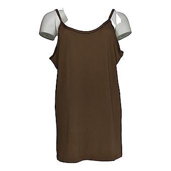 K Jordan Women's Plus Top Dressy Camisole Mocha Brown