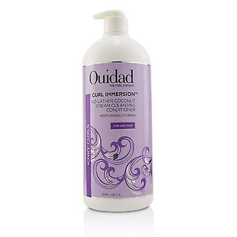Curl immersion no lather coconut cream cleansing conditioner (kinky curls) 219744 1000ml/33.8oz