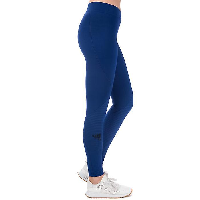 Women's Adidas Alphaskin Tech Tights In Blue